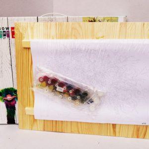Раскраски по номерам на деревянном панно